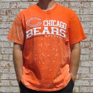 Chicago Bears Football Custom Distressed Tee sz 2X